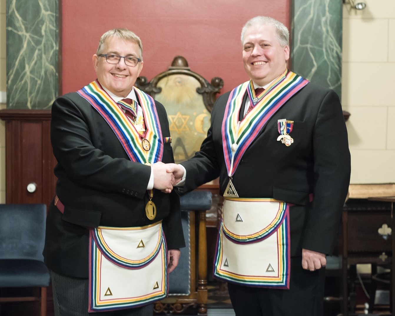 A new Skipper in post at the Good Ship Peace Lodge of RAM No.681 18th January 2018